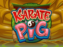Играть онлайн в виртуальный игровой автомат Karate Pig